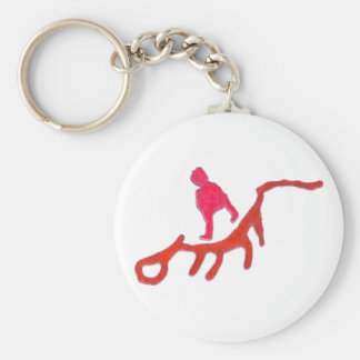 Odd Beings Basic Round Button Key Ring