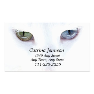 Odd eyed Cat  Business Card