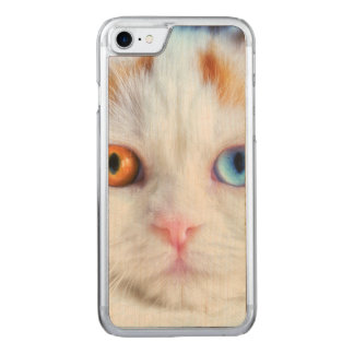 Odd-Eyed White Persian Cat Carved iPhone 8/7 Case