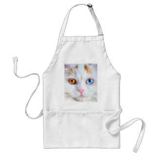 Odd-Eyed White Persian Cat Standard Apron