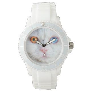 Odd-Eyed White Persian Cat Wristwatches