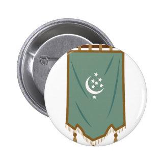 Odd Fellow Moon Banner 6 Cm Round Badge