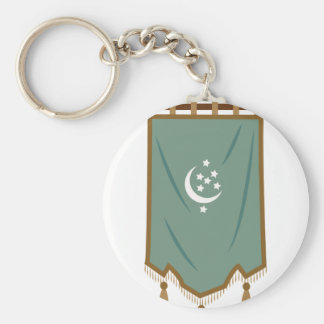 Odd Fellow Moon Banner Basic Round Button Key Ring