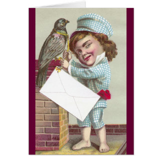 Odd Fellow Sending Pigeon Post Greeting Card