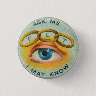 """Odd Fellows """"Ask Me I May Know"""" 3 Cm Round Badge"""