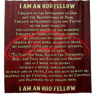 Odd Fellows Valediction Shower Curtain