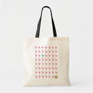 odd flamingo tote bag
