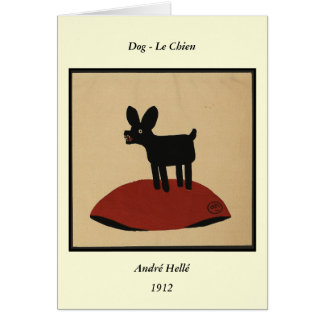 Odd Funny Looking Dog - Colorful Book Illustration Greeting Card