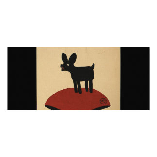 Odd Funny Looking Dog - Colorful Book Illustration Rack Card Template