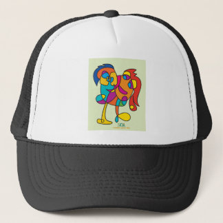 odd happy creatures colorful illustration noa isra trucker hat