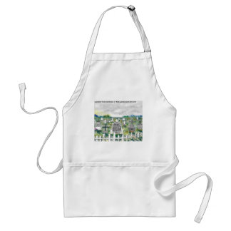 Odd Headstones Funny Cartoon Gifts & Collectibles Standard Apron
