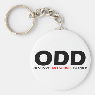 ODD - Obsessive Dachshund Disorder Basic Round Button Key Ring