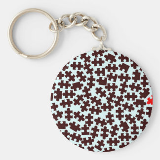 Odd One Out Basic Round Button Key Ring