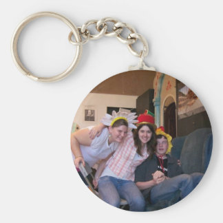 Odd people basic round button key ring