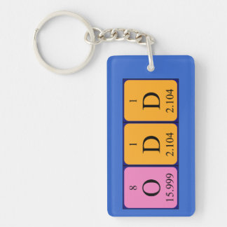 Odd periodic table name keyring Single-Sided rectangular acrylic key ring