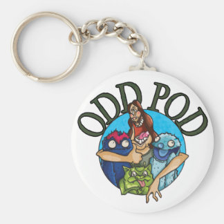 odd pod keyring basic round button key ring