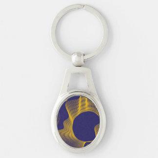 Odd Wavy Bends purple yellow Key Chains