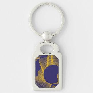 Odd Wavy Bends purple yellow Keychains
