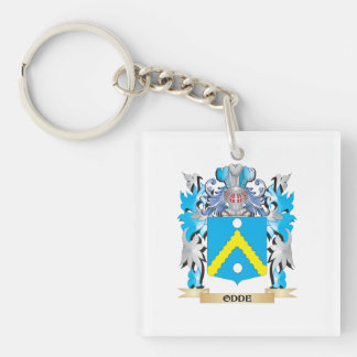 Odde Coat of Arms - Family Crest Square Acrylic Keychains