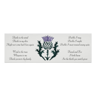 Ode of a Thistle 3 Poster