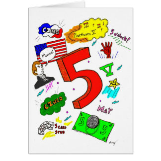 Ode to Five Greeting Card