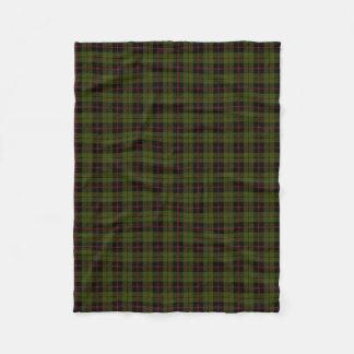 Odee army green plaid black red stripe fleece blanket