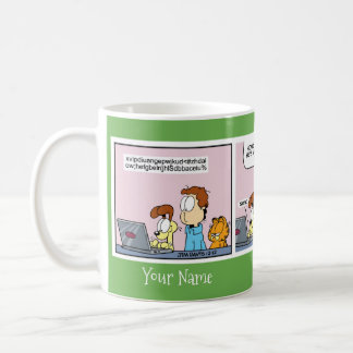 """Odie's Letter to Santa"" Garfield Comic Strip Mug"