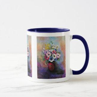 Odilon Redon Anemones - Fine Art Symbolism Mug