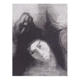 Odilon Redon- Anthony:The Devil Postcard