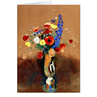 Odilon Redon - Bouquet of Wildflowers in Vase Card