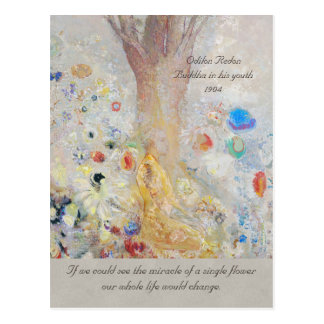 Odilon Redon Buddha CC0211 Miracle of a flower Postcard