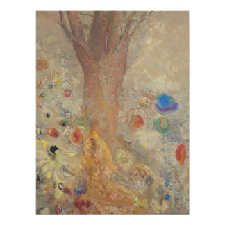 Odilon Redon Buddha in his youth CC0027 Poster