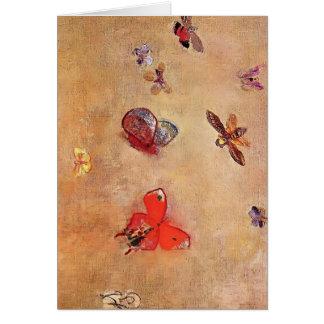 Odilon Redon- Butterflies Card