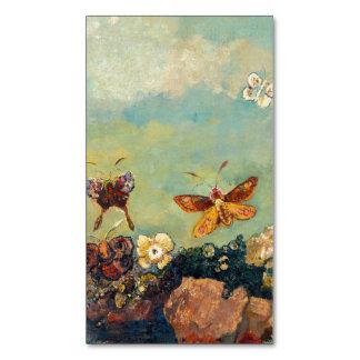 Odilon Redon Butterflies Vintage Symbolism Art Magnetic Business Card