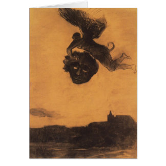 Odilon Redon- Devil take a head in the air Card