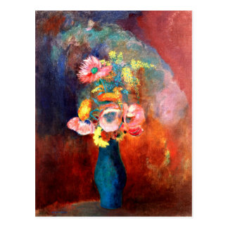 Odilon Redon - Ethereal Vase of Flowers Postcard