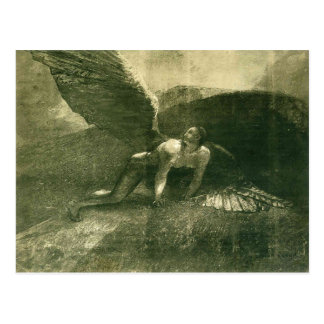 Odilon Redon- Fallen Angel Postcard