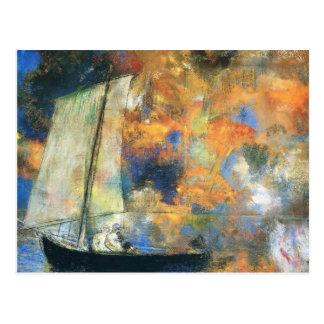 Odilon Redon- Flower Clouds Postcard