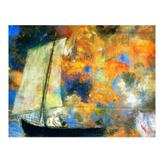 Odilon Redon - Flower Clouds Postcard