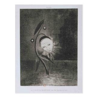 Odilon Redon- Flower of the swamp, a head human Postcard