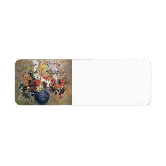 Odilon Redon- Flowers Return Address Label