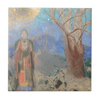 Odilon Redon: Le Bouddha, The Buddha Ceramic Tile
