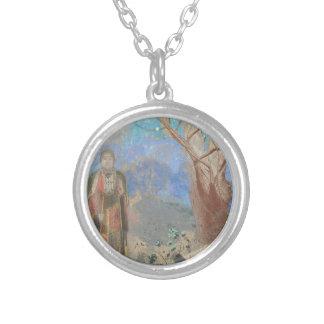 Odilon Redon: Le Bouddha, The Buddha Silver Plated Necklace
