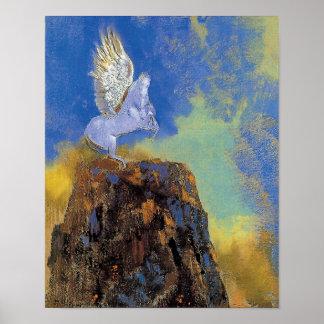 Odilon Redon Pegasus - Greek Mythology Symbolism Poster