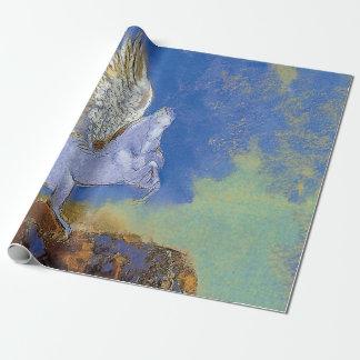Odilon Redon Pegasus - Greek Mythology Symbolism Wrapping Paper