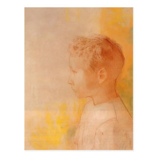 Odilon Redon- Portrait of Son of Robert de Comecy Postcard