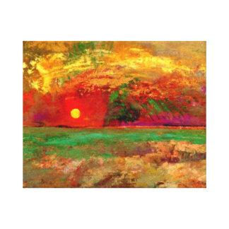 Odilon Redon - The Sunset Canvas Print