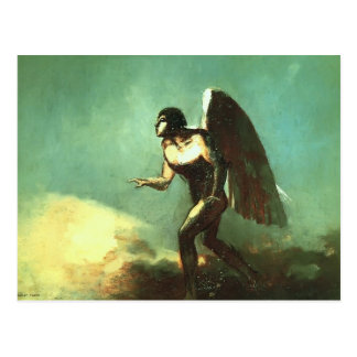 Odilon Redon- The Winged Man (The Fallen Angel) Postcard