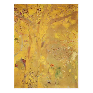 Odilon Redon- Tree Against a Yellow Background Postcard