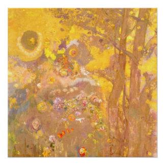 Odilon Redon - Tree on Yellow Background